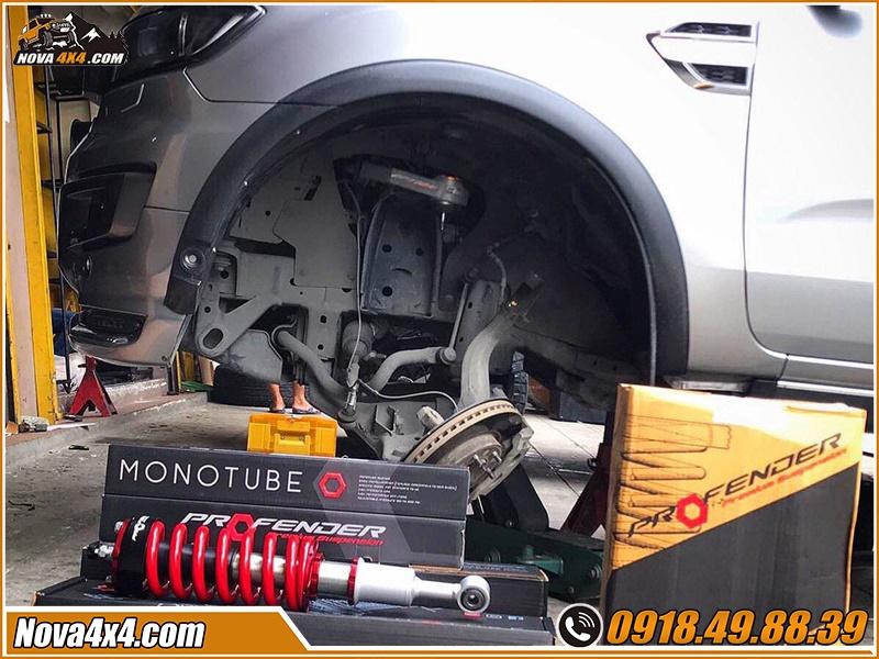 Phuộc Profender xe bán tải giá bao nhiêu tại xưởng độ Nova4x4